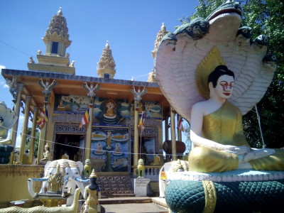 Bleeding Buddha at Phnom Yat Pagoda