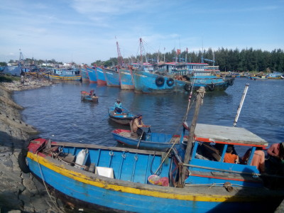 Fishing boats in LaGi