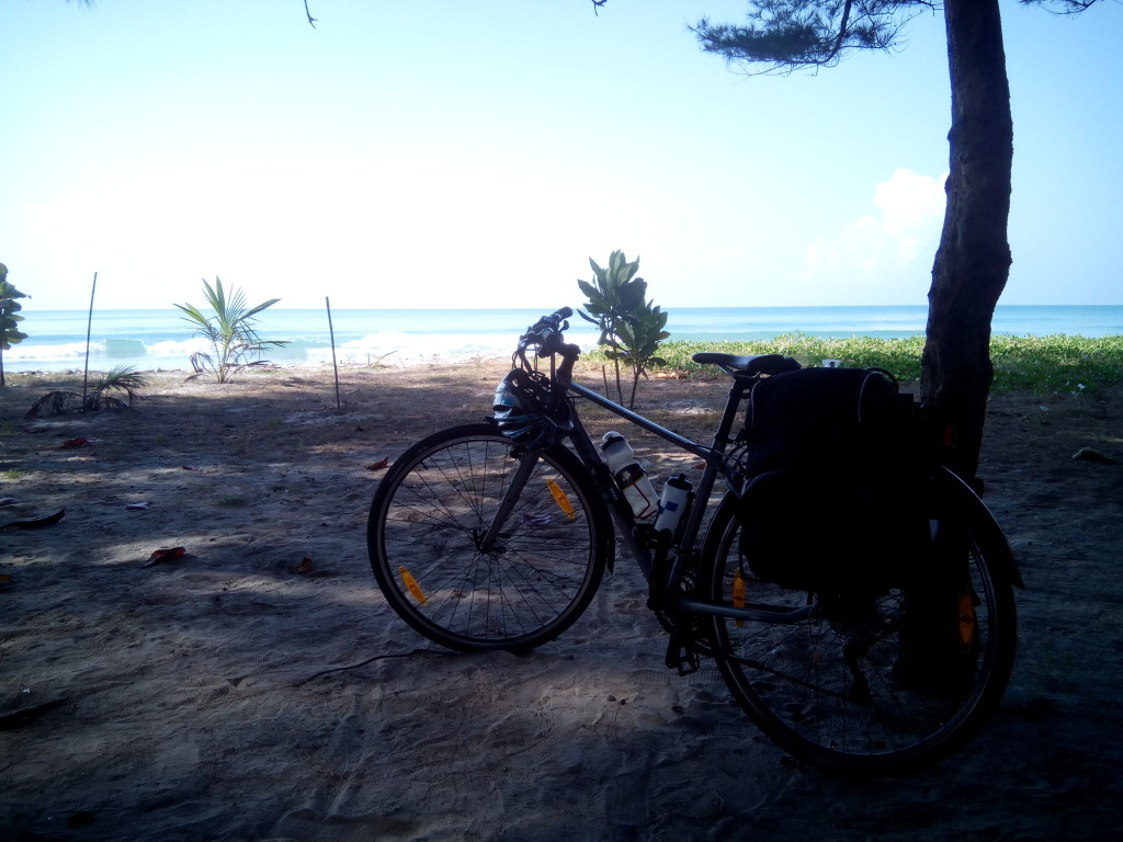 bike by the beach in Thailand