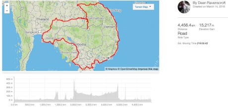 My SE Cycle Tour Route 2016/16