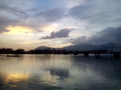 Sunset over Kampot